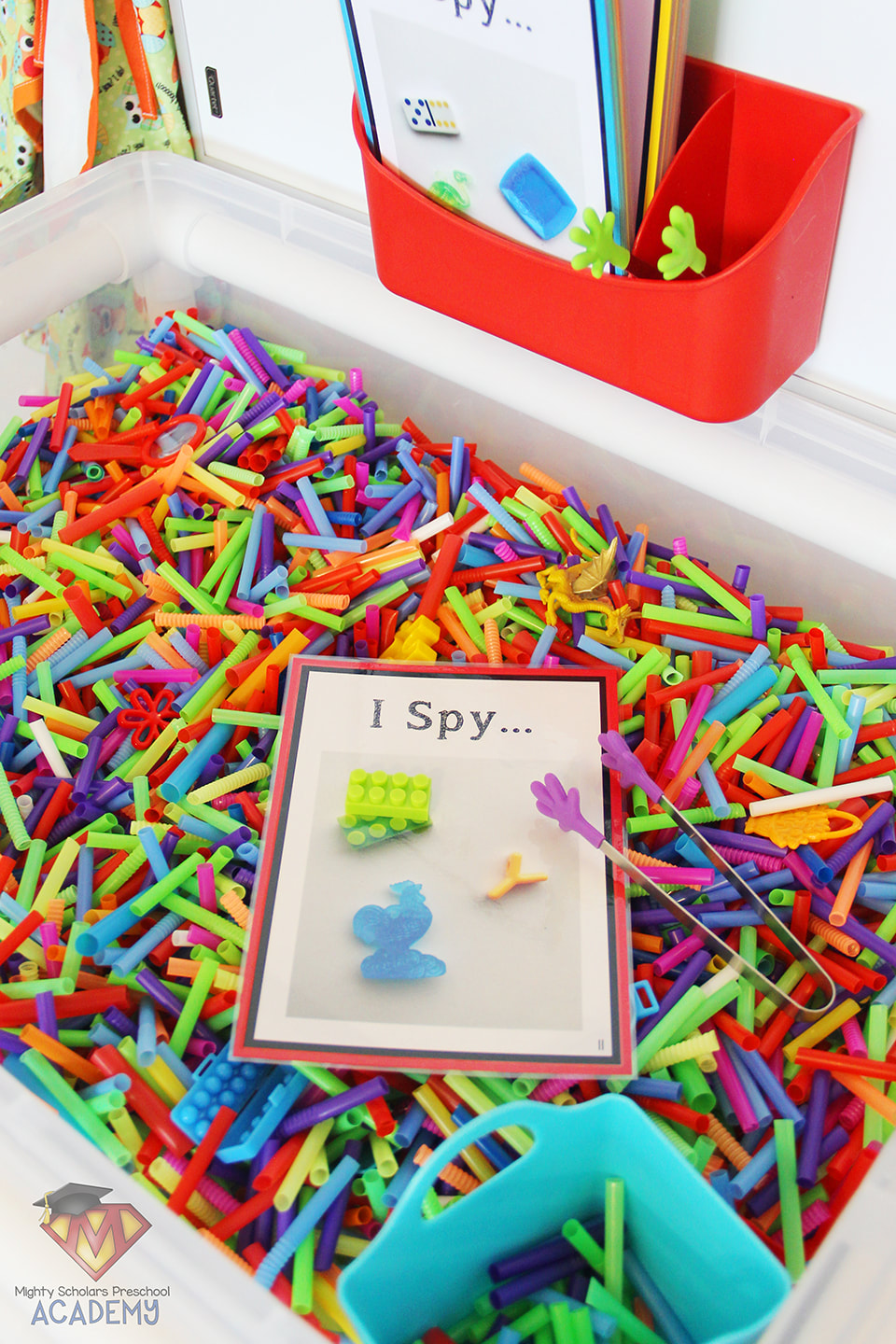 Five Senses: I Spy Sensory Table - Mighty Scholars Preschool